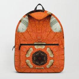 6 Pointed Mandala - Pumpkin Top Backpack