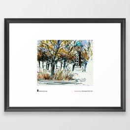 """Laura Frankstone, """"Rosenborg Castle Grounds, Copenhagen"""" Framed Art Print"""