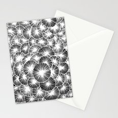 White Pinwheels Stationery Cards