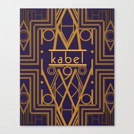 Kabel Type Portrait Purple Canvas Print