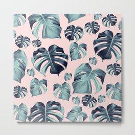 Tropical Monstera Pattern #1 #tropical #decor #art #society6 Metal Print
