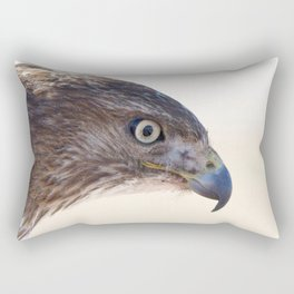 Watercolor Bird, Red-tailed Hawk 08, Keenesburg, Colorado, Why the Eagle Eye? Rectangular Pillow
