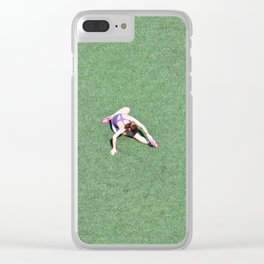 Morning Stretch Clear iPhone Case