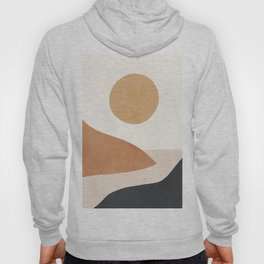 Minimal Abstract Art Landscape 9 Hoody