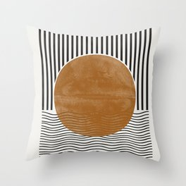 Abstract Modern Poster Throw Pillow