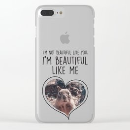 Proud Squirrel Sunbathing at the Lake Clear iPhone Case