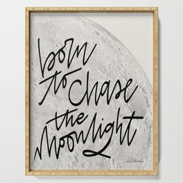 Born to Chase the Moonlight Serving Tray