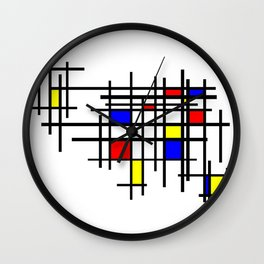 De Stijl - Neoplasticism Wall Clock