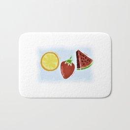 Feeling Fruity Watercolor Bath Mat