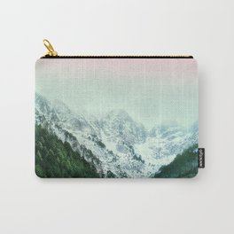 Snowy Winter Mountain Landscape with Alpenglow Carry-All Pouch