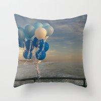 santa monica Throw Pillows featuring Santa Monica pier 4 by Umbrella Design