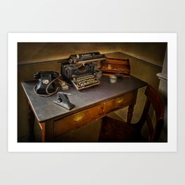 Vintage Writers Corner Art Print