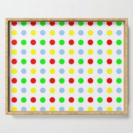 new polka dot 11 - multicolor Serving Tray