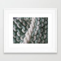 knit Framed Art Prints featuring Knit by The Pink Goldfish