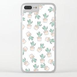 Cactus #1 Clear iPhone Case