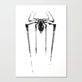 Amazing Spiderman B/W Canvas Print