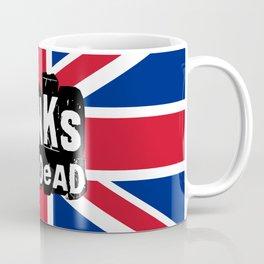 UK Flag Punk's Not Dead Coffee Mug