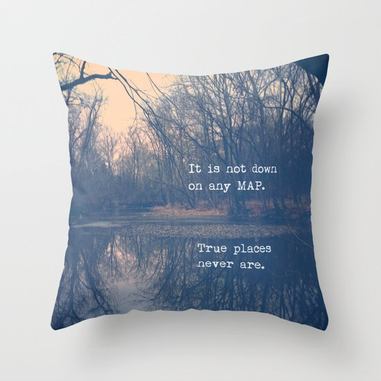 True Places Throw Pillow