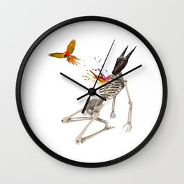 Surreal collage - Parrot Flight Wall Clock