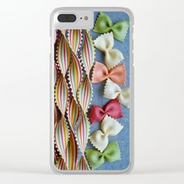 Stripes and Bows IV Clear iPhone Case