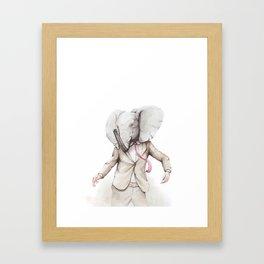 Elephant Dance Framed Art Print