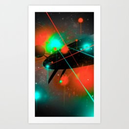 BATTLE - Heavy Metal Thunder Artwork Art Print