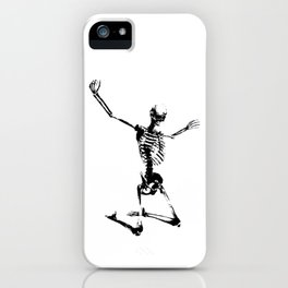 SKELETON GIVE UP iPhone Case