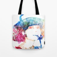 audrey hepburn Tote Bags featuring Audrey Hepburn by Heaven7