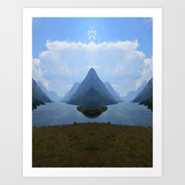 Mirrored Landscape Art Print