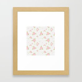 """""""Roses & Dots"""" Framed Art Print"""