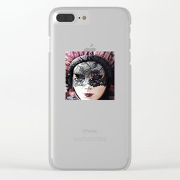 Italy Venice Mask 4 woman Clear iPhone Case