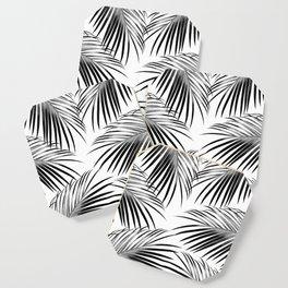 Black Palm Leaves Dream #2 #tropical #decor #art #society6 Coaster