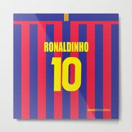 Three Tens: Ronaldinho 10 Metal Print