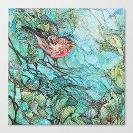 The Aquamarine Labyrinth (detail no. 1) Canvas Print