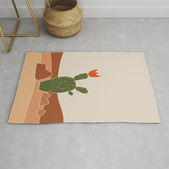 Red Crown cactus Rug