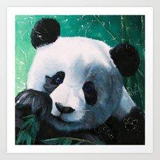 Panda - A little peckish - by LiliFlore Art Print