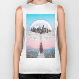 CITY OF PASTEL DREAMS III Biker Tank