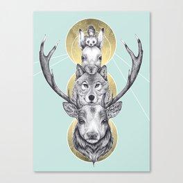 Winter Totem Canvas Print