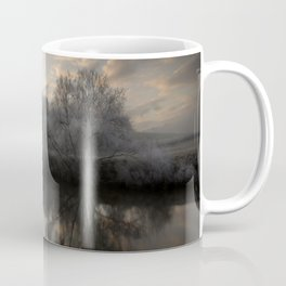 Wintery morning by the river Wye Coffee Mug