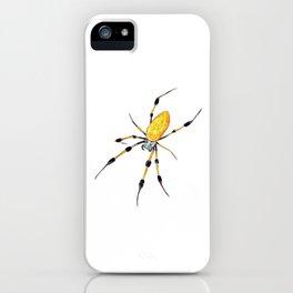Golden Silk Orb Weaver Lineless iPhone Case