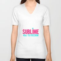 sublime V-neck T-shirts featuring SUBLIME by MsSarahKane
