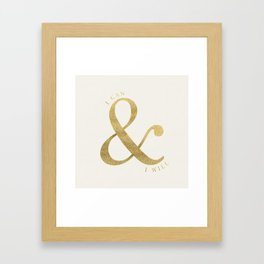 I Can and I Will Framed Art Print