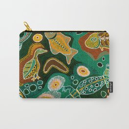 Inspired Primitive in Green Carry-All Pouch