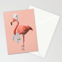 Squeaky Clean Flamingo Stationery Cards