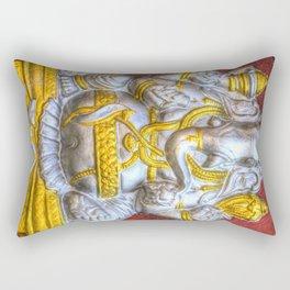 Indian Temple Elephant Rectangular Pillow
