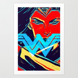 W O N D E R W O M A N (BvS) Art Print