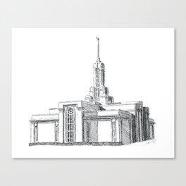 Mount Timpanogos LDS Temple Canvas Print