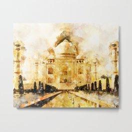Taj Mahal Painting Metal Print