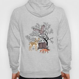 Forest animals graphics color Hoody