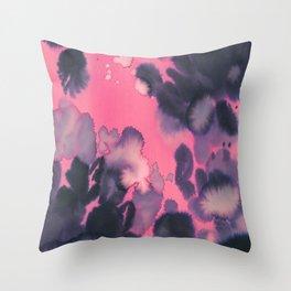 watercolor waves COLLAB DYLAN SILVA Throw Pillow